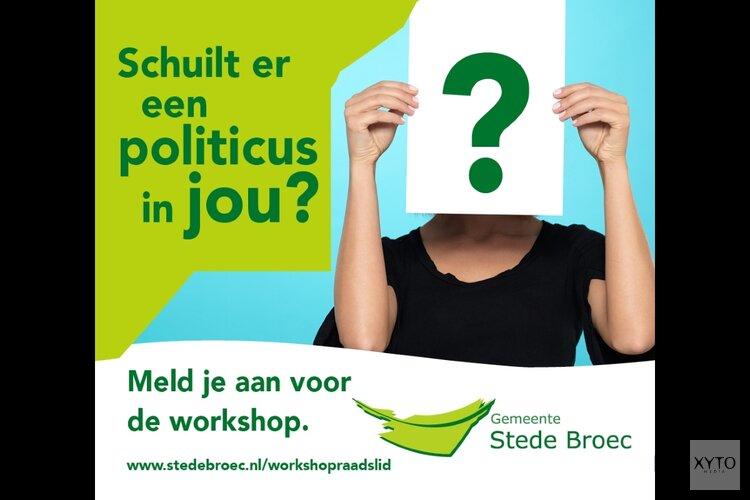 Stede Broec houdt workshop 'Politiek actief'