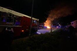 Flinke brand bij woning in Enkhuizen